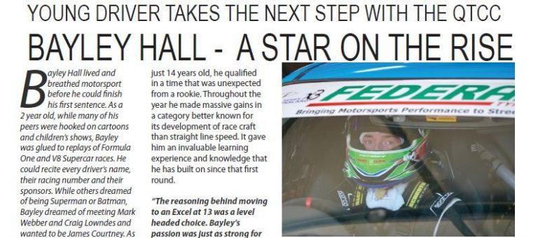 Bayley appears in Velocity Motorsport Magazine Nation-wide